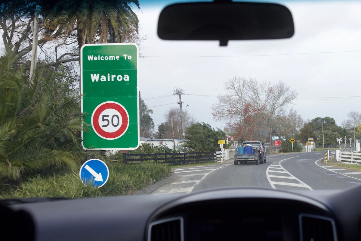 The road into Wairoa
